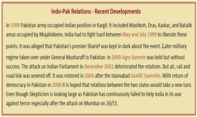 What were the reasons behind India-Pakistan War and its effects?