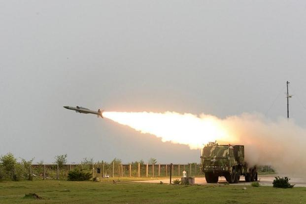 Interceptor missile launched