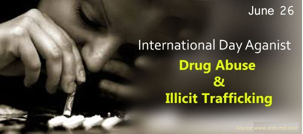 International Day Against Drug Abuse & Illicit Trafficking - 26 June  IMAGES, GIF, ANIMATED GIF, WALLPAPER, STICKER FOR WHATSAPP & FACEBOOK