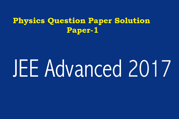 JEE ADVANCED  2017 PAPER-1