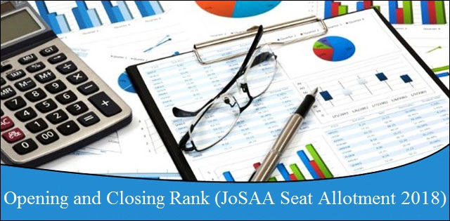 JoSAA Counselling 2018: Opening and Closing rank