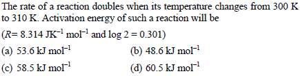 UPSEE Chemical Kinetics Question 3