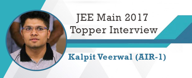 Kalpit Veerwal JEE Main 2017 Topper