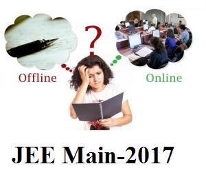 JEE main 2017, online, offline