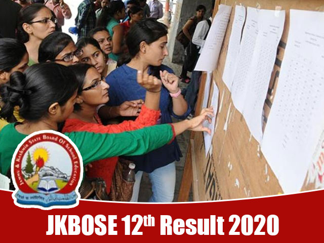JKBOSE 12th Result 2020
