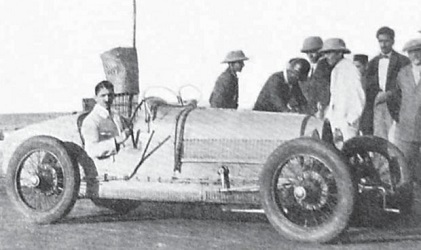 JRD Tata with his car