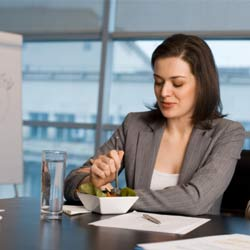 Job Interview: Eat and Respond