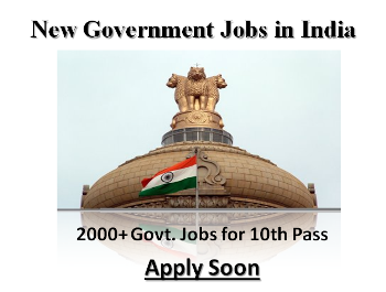 New Govt  Jobs for 10th Pass Added: 2000+ Sub Staff & Other