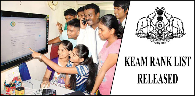KEAM Rank List 2018 Released, Check Now @ cee.kerala.gov.in