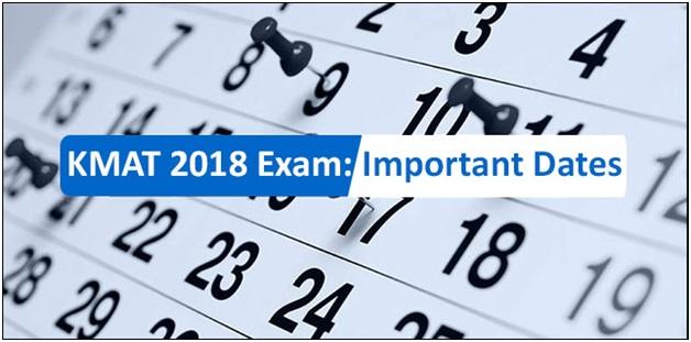 KMAT 2019 Exam: Important Dates