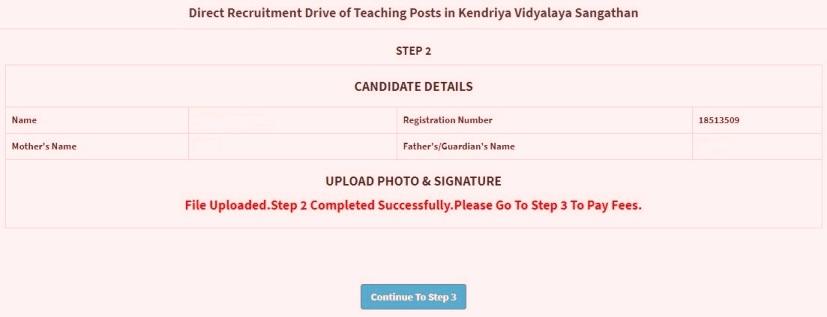 KVS Application Process