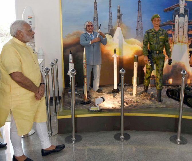 Rockets images in Kalam Memorial