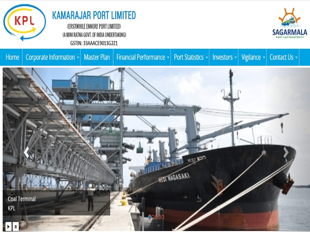 Kamarajar Port Limited (KPL) Recruitment 2019