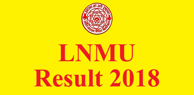 LNMU Part 1 Result 2018 declared at lnmuuniversity in, check