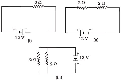 circuit diagram with resistance combinations