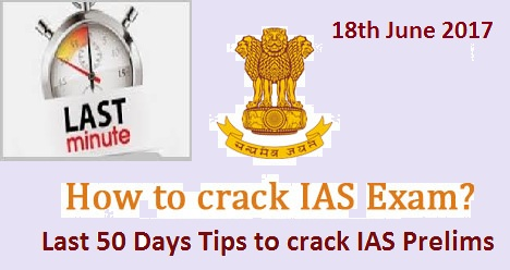 50 days tips for IAS Prelims