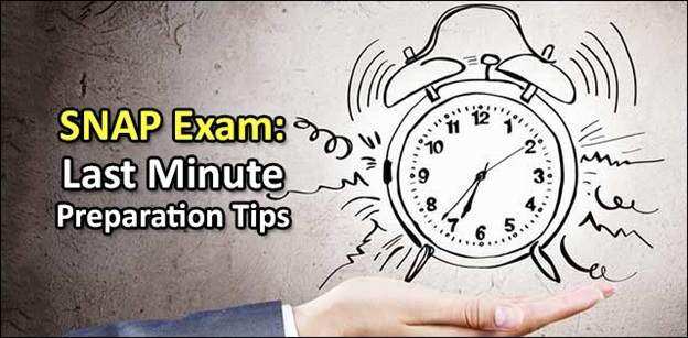 Last Minute preparation Tips for the SNAP 2018 Exam