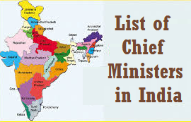 Current gk List of Current Chief Ministers in India