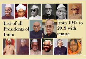 List of all Presidents of India from 1947 to 2019 with tenure