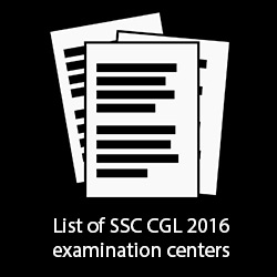 List of SSC CGL 2016 Examination Centers