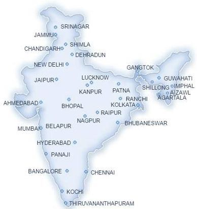 Location of currency chest india