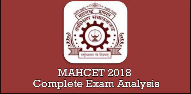 MAHCET 2018: Complete Exam Analysis