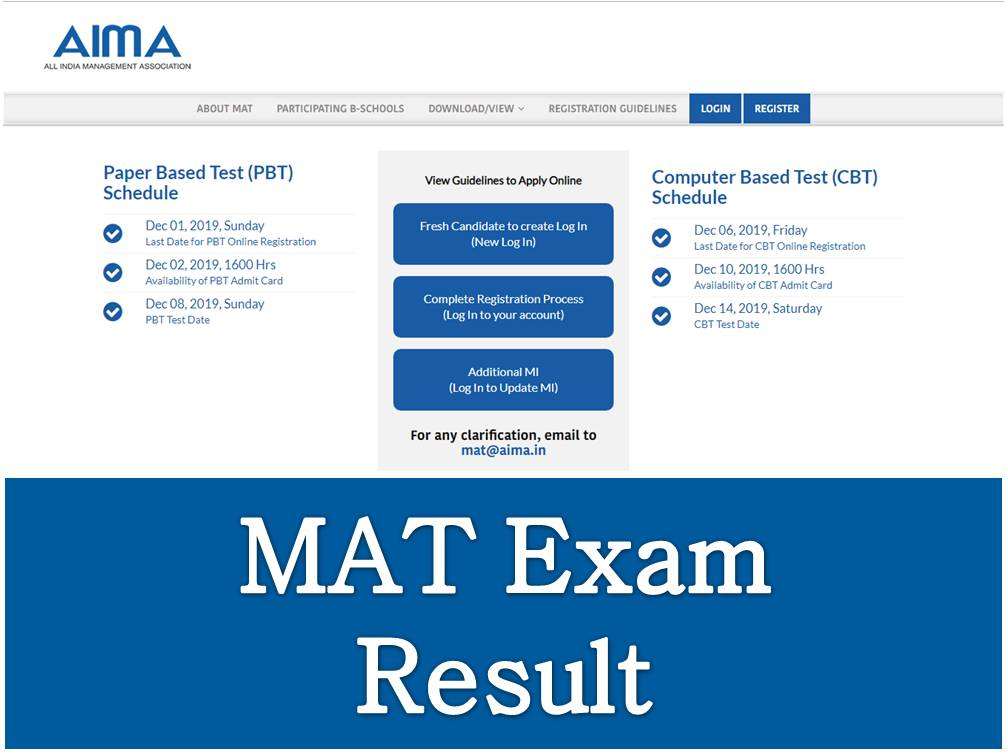 MAT 2020 Result Declared | Direct link to check MAT result available | Download MAT scorecard