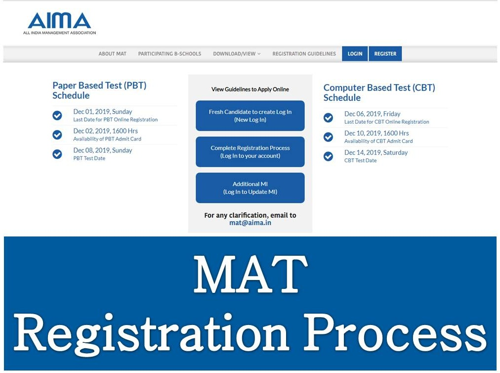 MAT Exam Registration Process