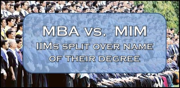 MBA or MIM