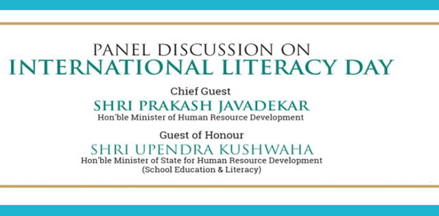International Literacy Day: MHRD organsises panel discussion tomorrow with Prakash Javadekar