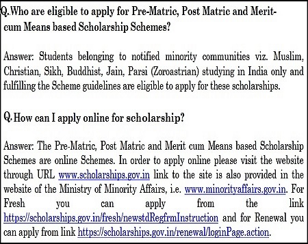 Minority Scholarships 2018-2019