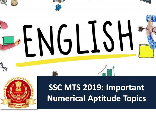 SSC MTS 2019: General English Mock Test (25 marks) with Answers