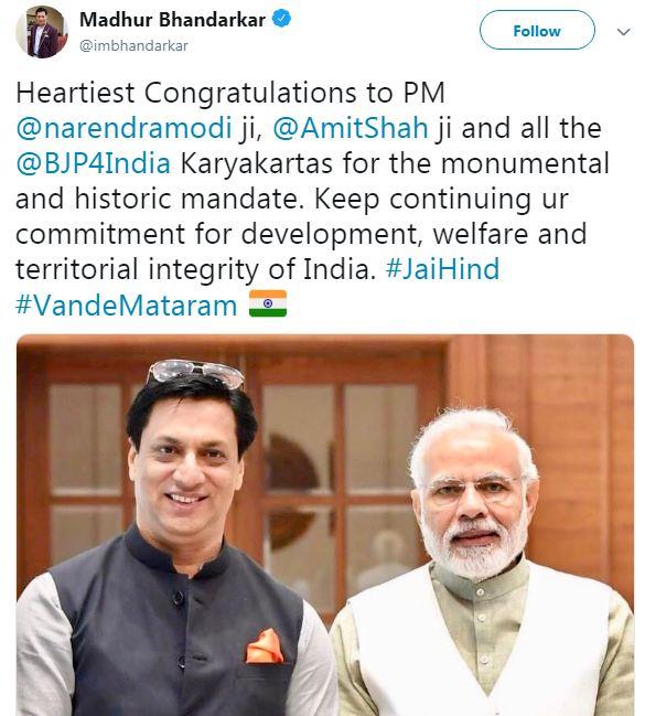 Madhur Bhandarkar Tweet