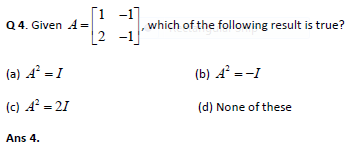 Matrices practice question