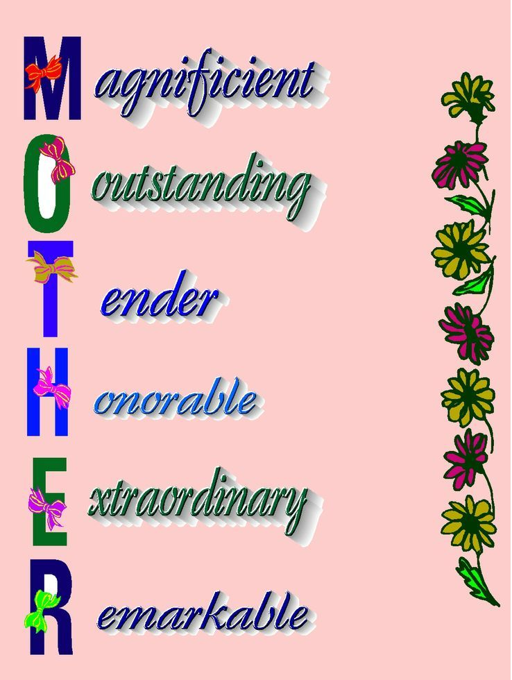 What is the meaning of Mother word