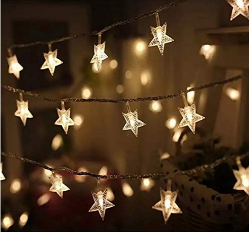 Merry Christmas star shaped lights