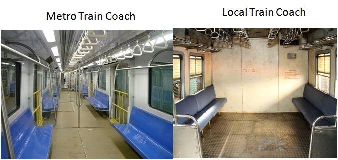Metro Local Train coach