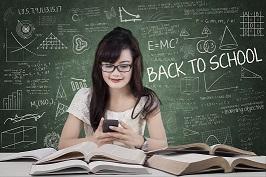 A girl doing study
