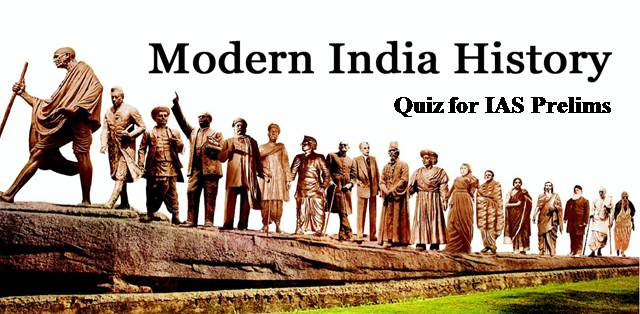 Modern History Quiz for IAS Exam Administrative Changes After 1838
