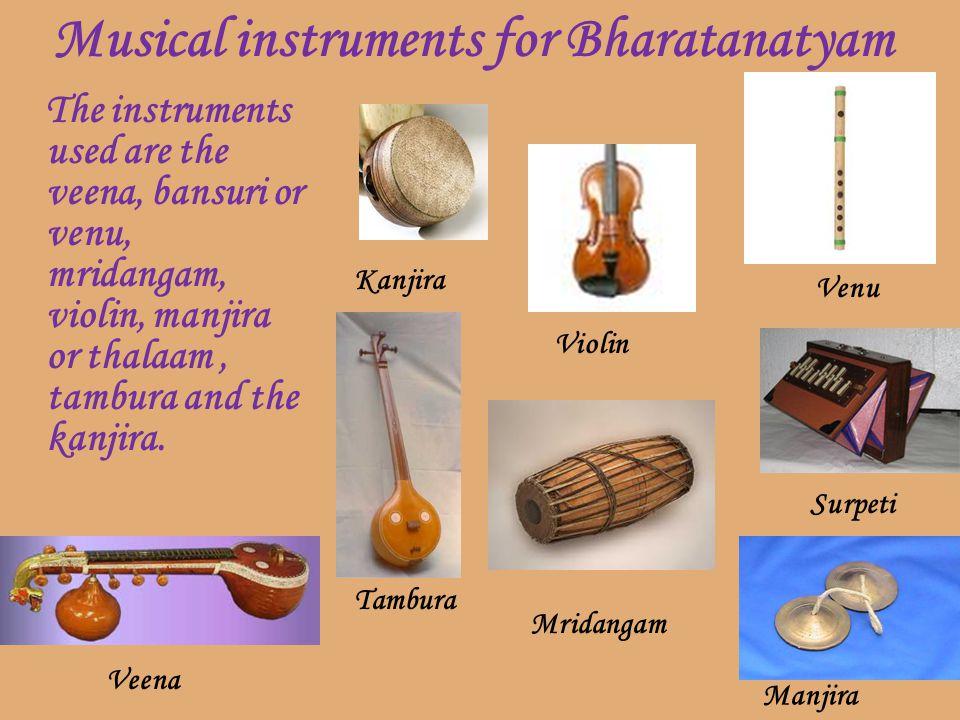 Musical instruments for Bharatanatyam