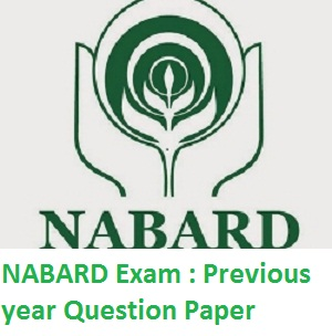 NABARD previous year question paper