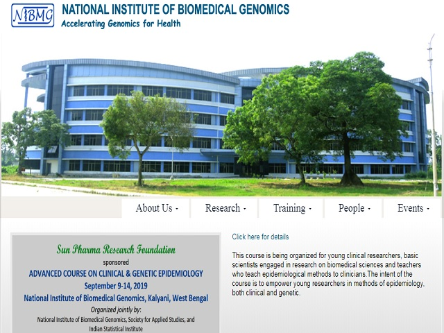 National Institute of Biomedical Genomics (NIBMG) Data Analyst, Project Manager and Other Posts 2019