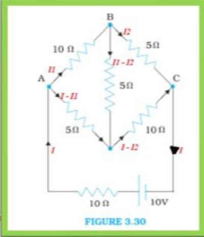 Class 12 Physics NCERT textbook, chapter 3, solution of question 3.9, figure 2