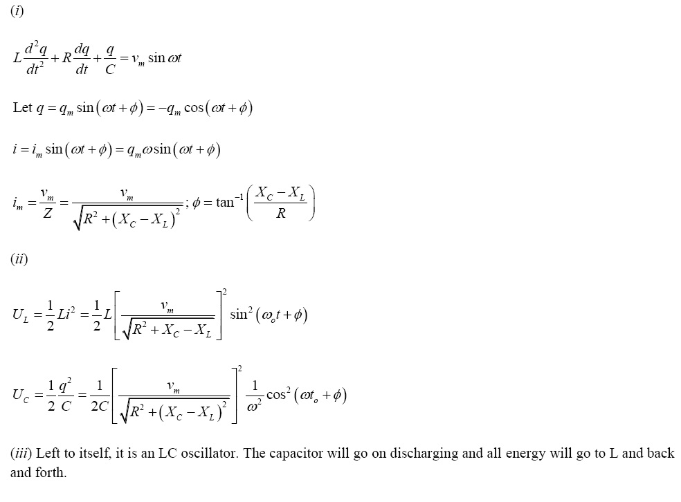 NCERT Exemplar Solutions for Class 12 Physics - Chapter 7: Alternating Current (LA) - A 7.31