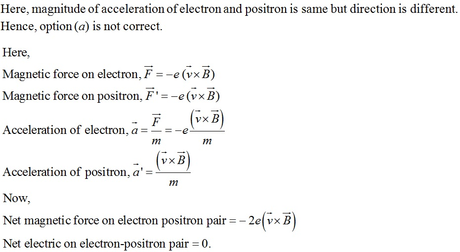 NCERT Exemplar Solutions for CBSE Class 12 Physics ‒ Chapter 4: Moving Charges & Magnetism, Solution 4.10