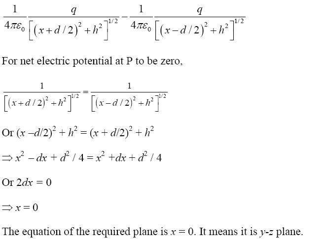 NCERT Exemplar Solutions for CBSE Class 12 Physics - Chapter 2: Answer of question number 2.25