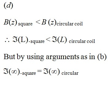 NCERT Exemplar Solutions for CBSE Class 12 Physics ‒ Chapter 4: Moving Charges & Magnetism (Solution 4.27 - d)