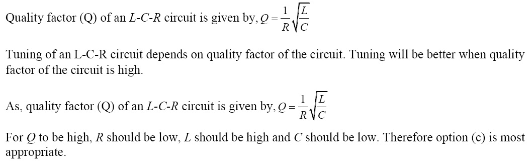 NCERT Exemplar Solutions for Class 12 Physics - Chapter 7: Alternating Current (Solution 7.5)