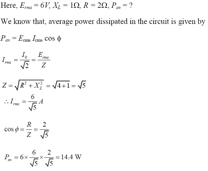 NCERT Exemplar Solutions for Class 12 Physics - Chapter 7: Alternating Current (Solution 7.6)