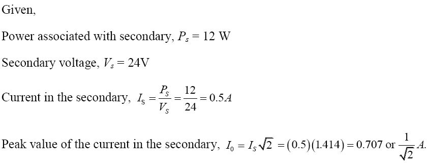 NCERT Exemplar Solutions for Class 12 Physics - Chapter 7: Alternating Current (Solution 7.7)